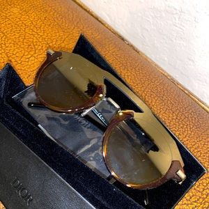 Dior Men Rare Futuristic Layered Round Sunglasses!